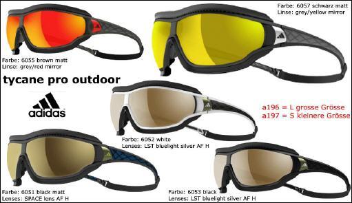 Onlineshop mit Sportbrillen und Sonnenbrillen von Adidas