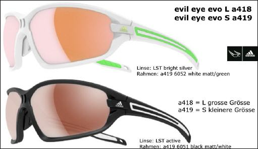 Evil Eye Evo Pro Brille black mattgreen mirror S