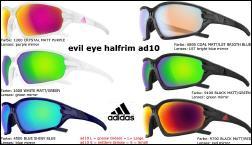 Adidas Evil Eye Evo Pro L black matt red mirror