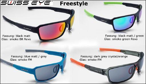 Swiss Eye Sportbrille Freestyle Black Matt//Green
